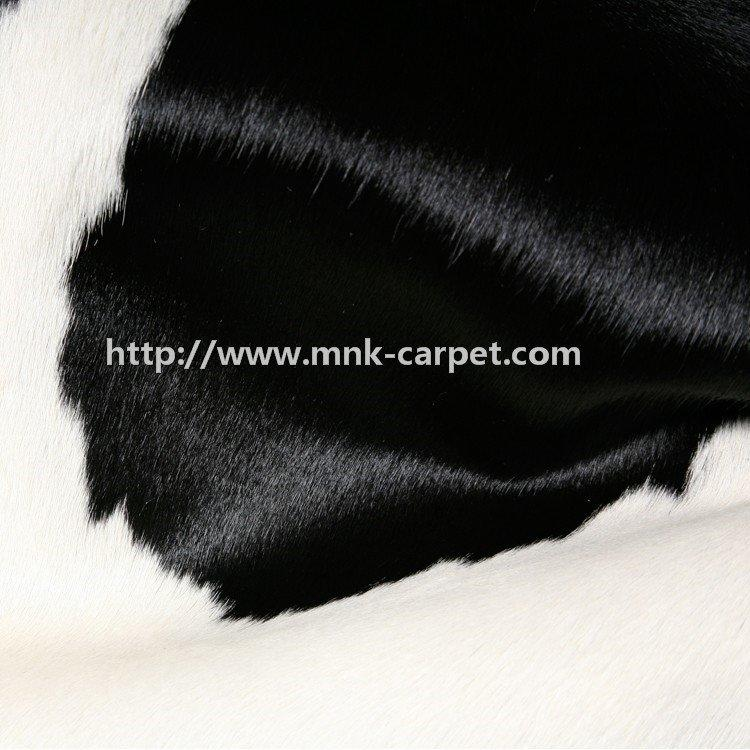 Novel Black And White Pattern Cowhide Rug Home Decor