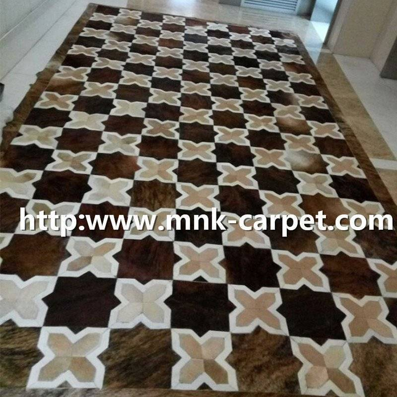 MNK Area Rug Natural Cow Skin Carpets And Rugs